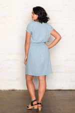 Labyrinth V Neck Dress - Aqua