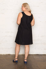 Linen Reversible Dress - Black