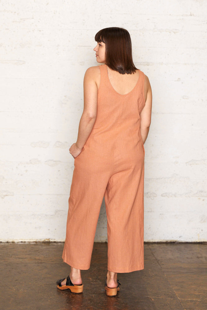 Linen Jumpsuit - Almond
