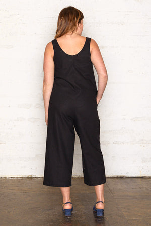 Linen Jumpsuit - Black