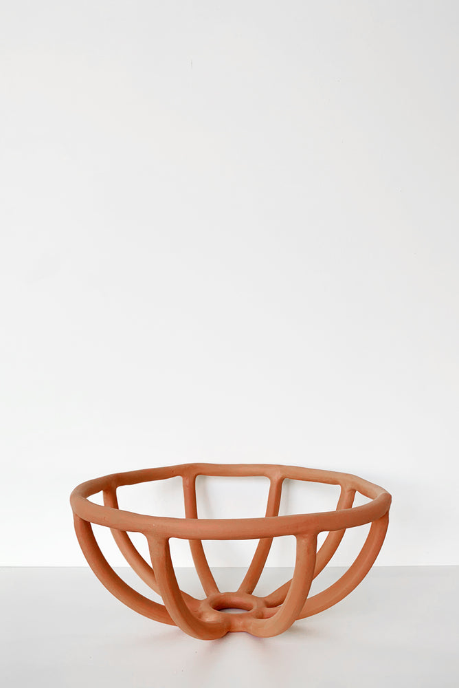 Prong Fruit Bowl - Terracotta