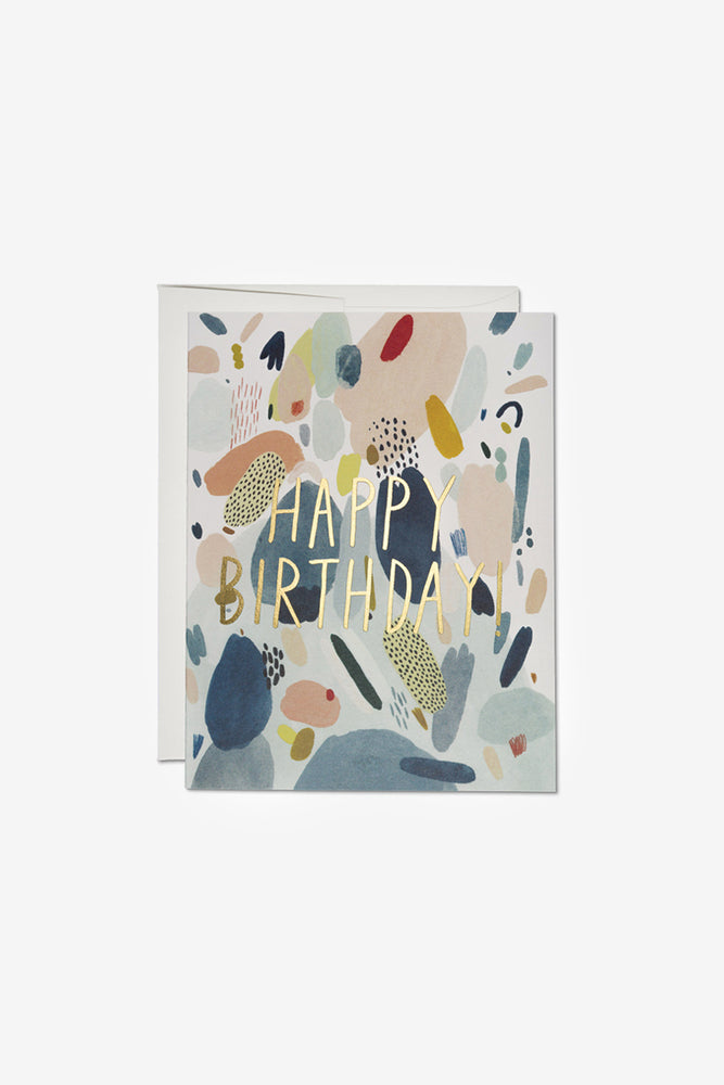 Abstract Shapes Birthday Card