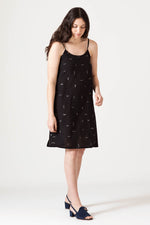 Motion Slip Dress - Black