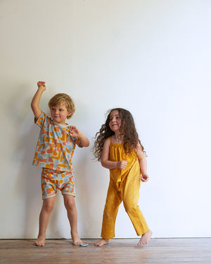 Dots Organic Jumpsuit - Golden