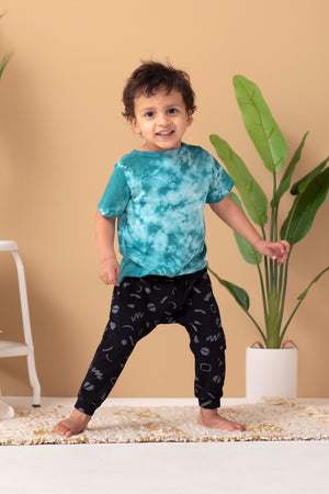 Squiggles Organic Harem Pants - Black