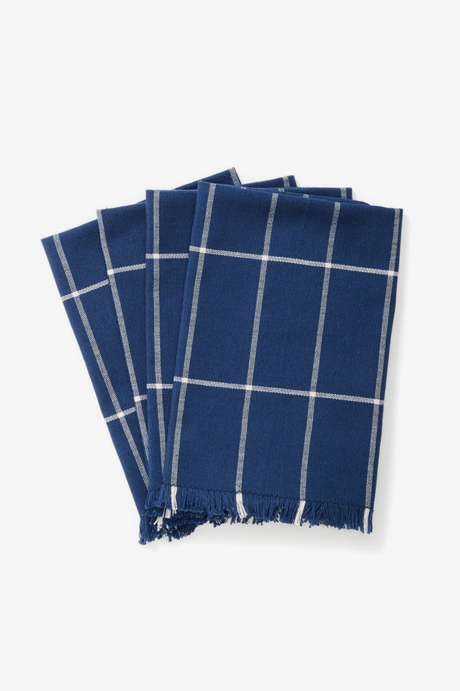 Indigo Grid Napkin, Set of 4