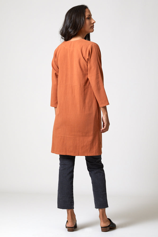 Open Neck Dress - Copper