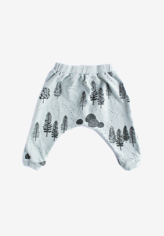 Trees Organic Sweatpants - Storm with Charcoal