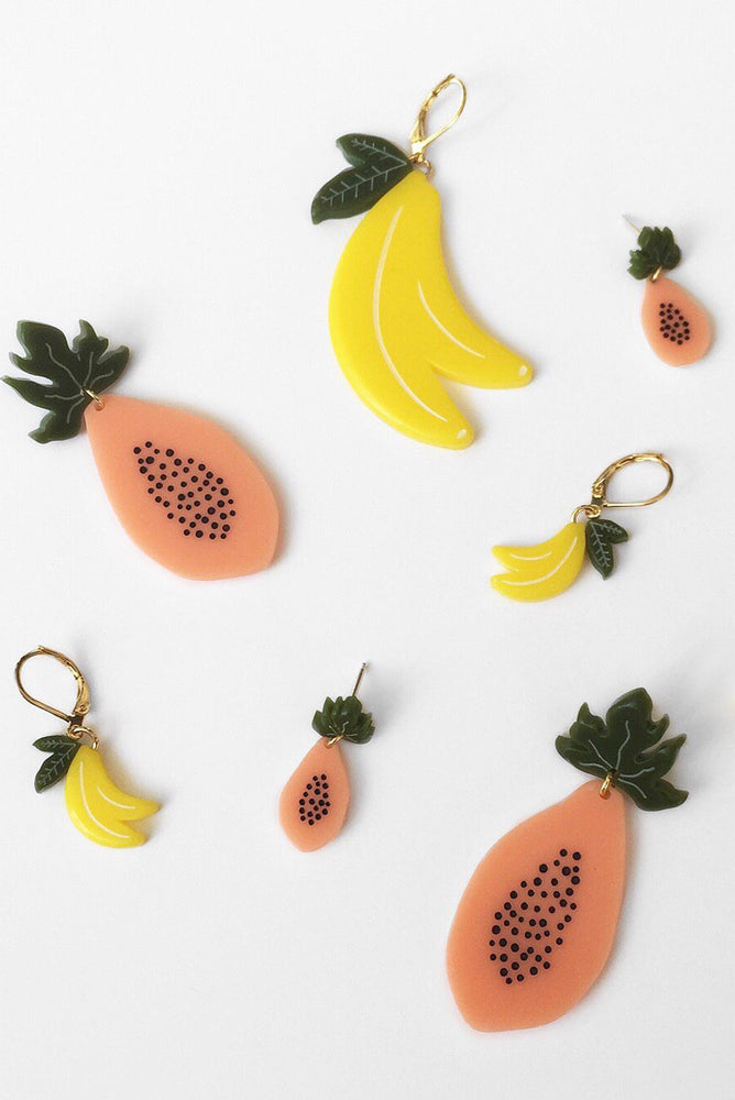 Mini Banana Earrings