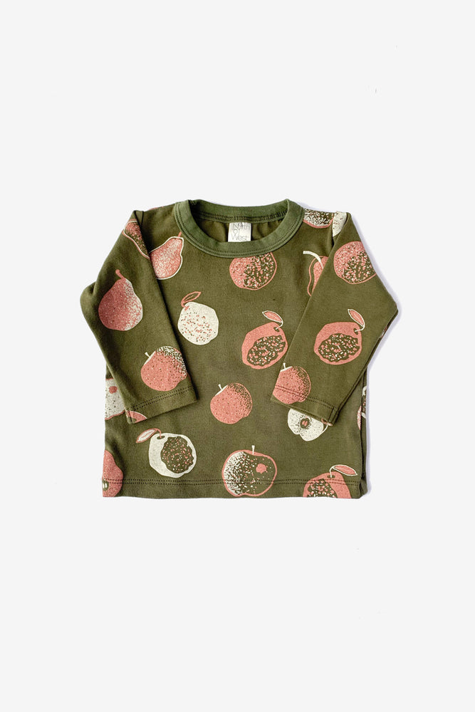 Apples and Pears Long Sleeve Tee - Avocado