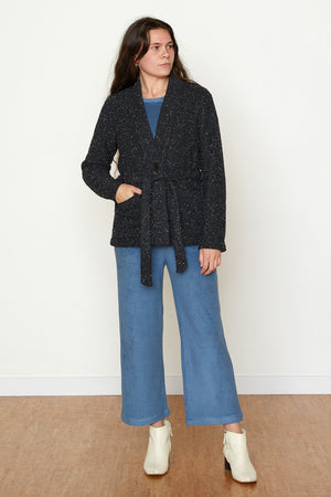 Pebble Knit Marisa Jacket - Black