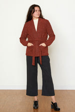 Pebble Knit Marisa Jacket - Ruby