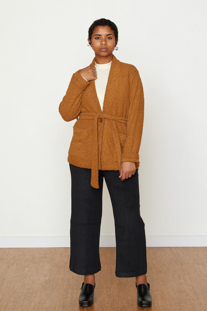 Pebble Knit Marisa Jacket - Toffee