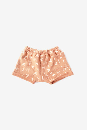 Puzzle Organic Sweat Shorts - Almond with Natural