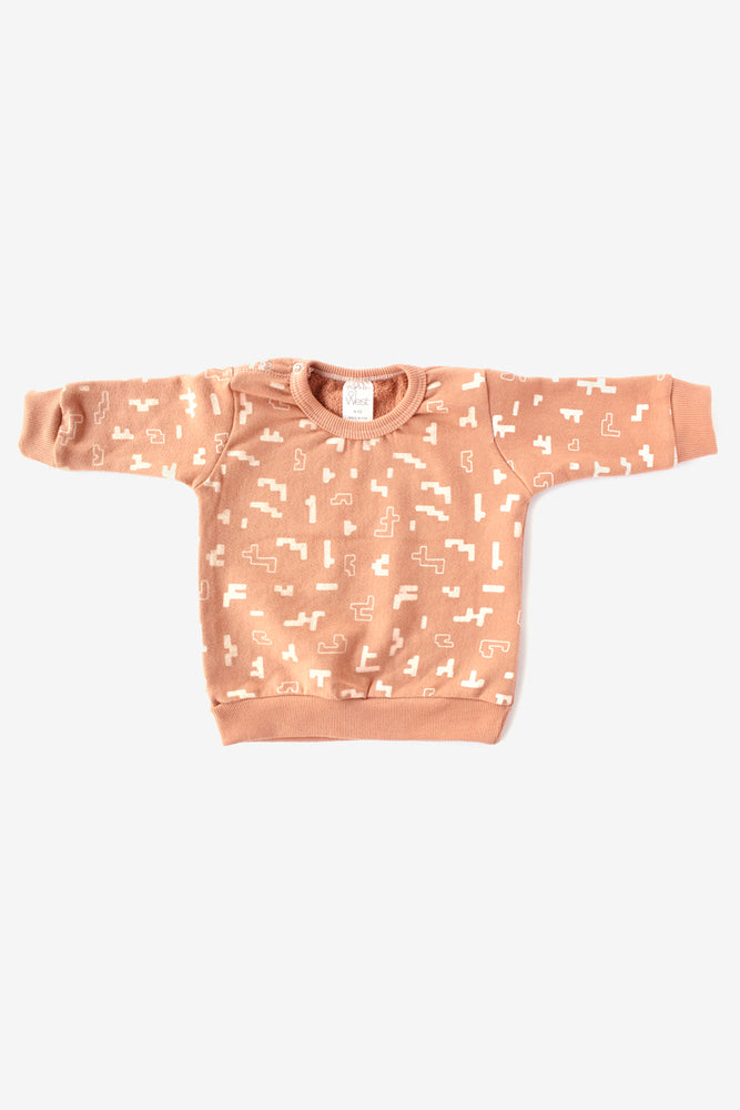 Puzzle Organic Crew Sweatshirt - Almond with Natural