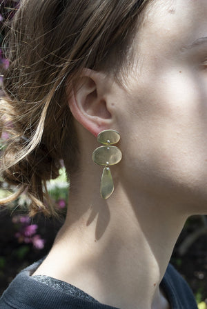 Ranja Earrings - Brass