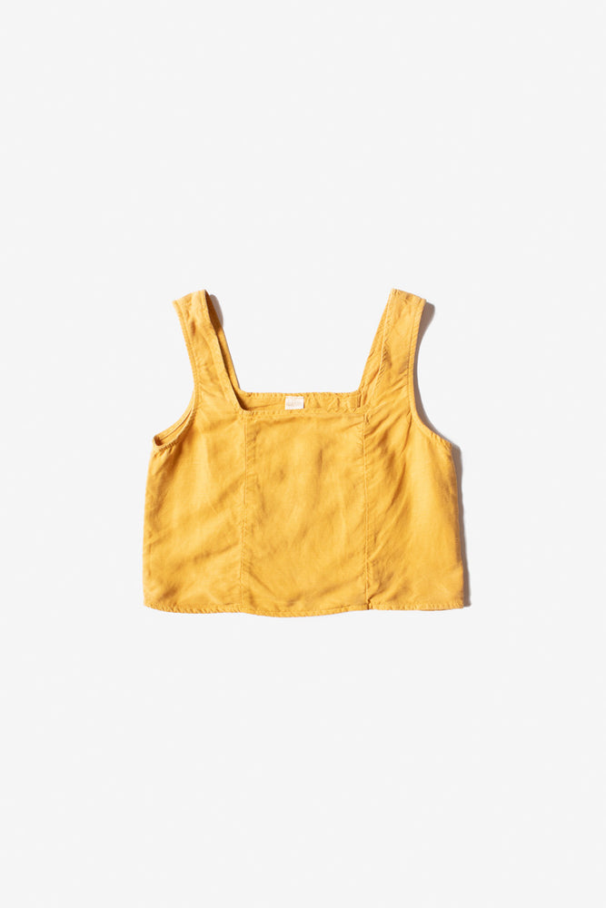 Rose Linen Tank - Golden