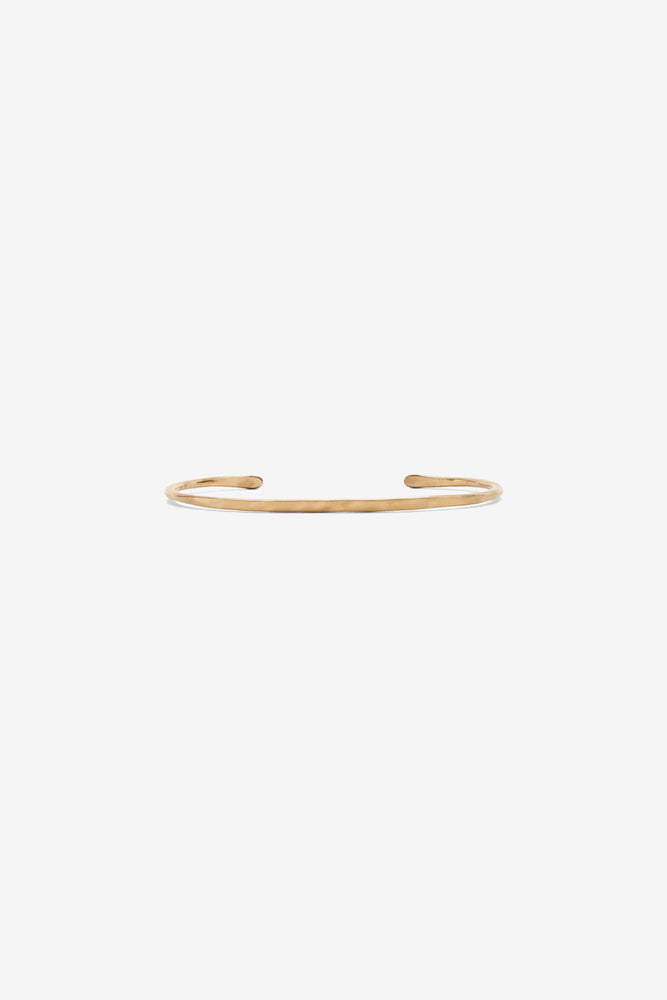 Thin Simple Forged Cuff - Gold Fill