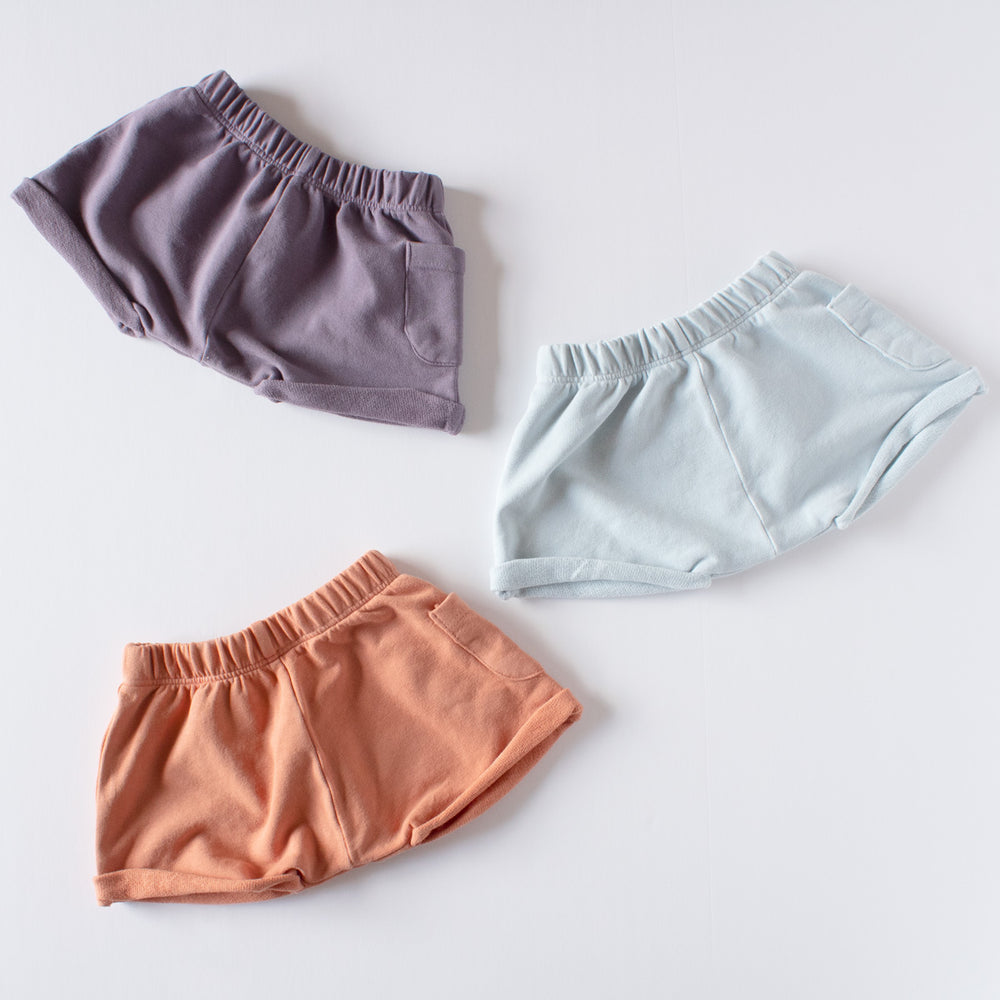 Organic Sweat Shorts - Sea Mist