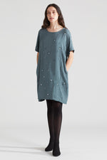 Windows Tee Dress - Forest