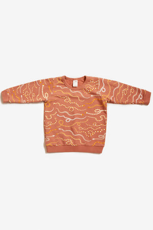 Snake Rainbow Organic Sweatshirt - Sunset