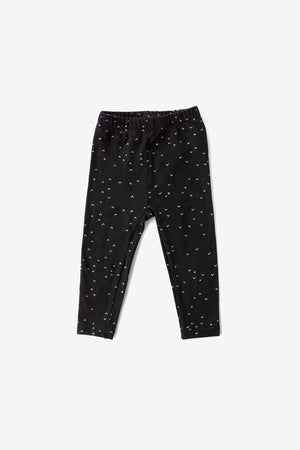 Sparrows Organic Leggings - Black with Natural