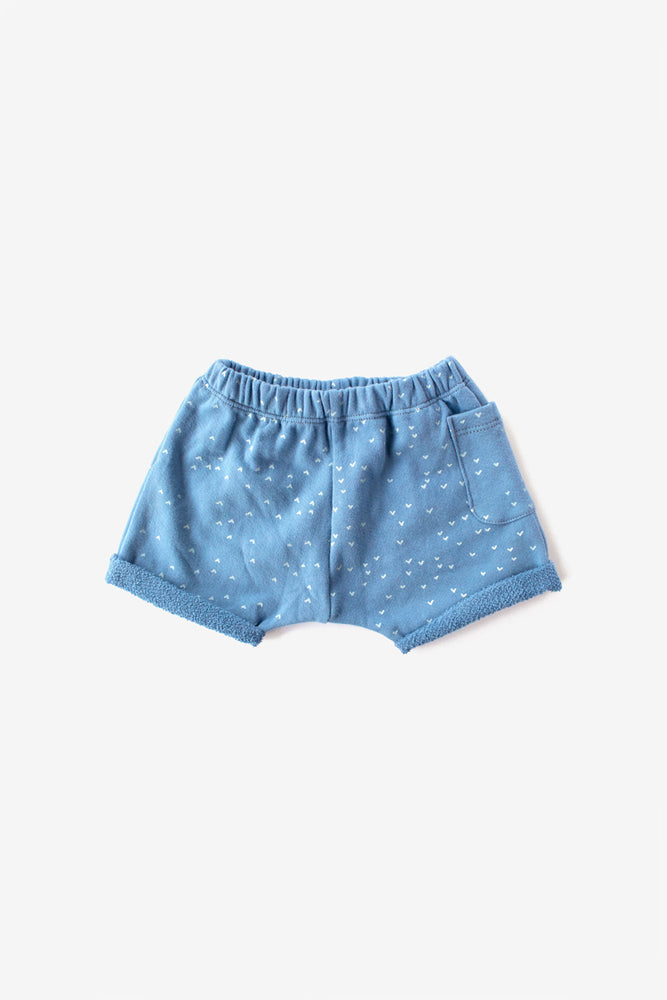 Sparrows Organic Sweat Shorts - Riviera with Natural