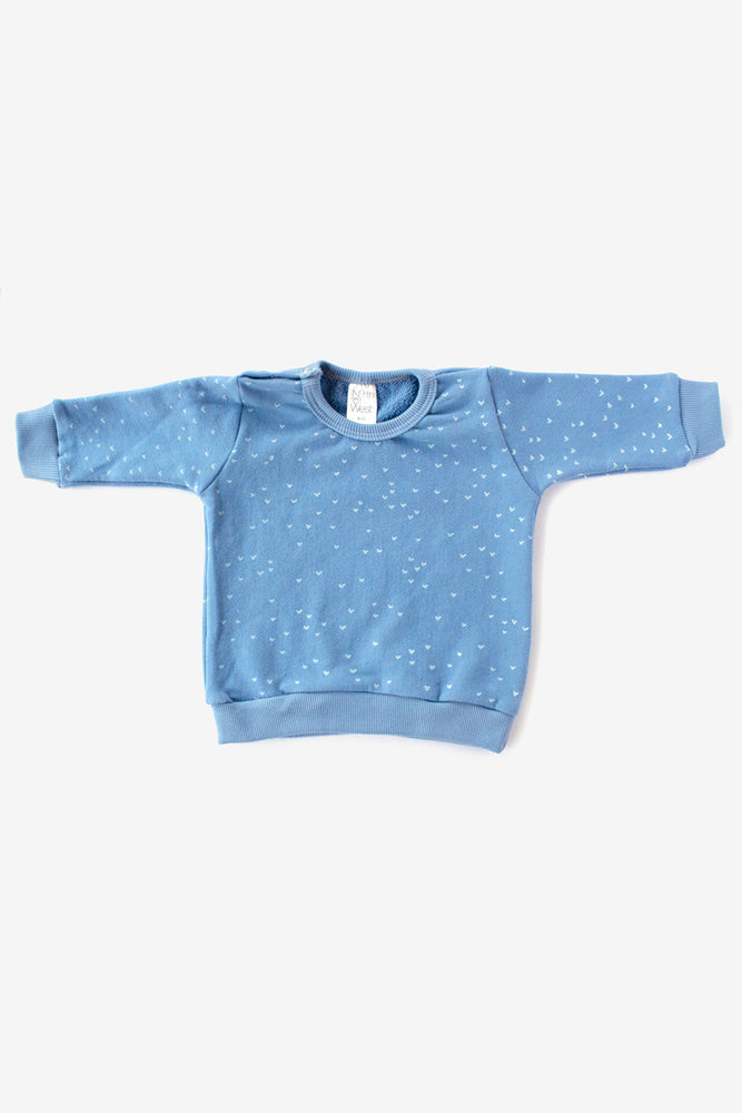 Sparrows Organic Crew Sweatshirt - Riviera with Natural