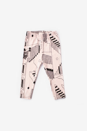 Steps Organic Leggings - Dusty Rose with Black