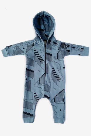 Steps Hooded Jumpsuit - Slate