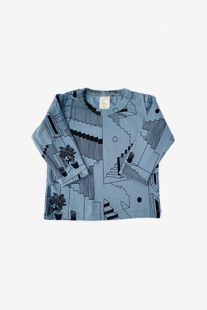 Steps Long Sleeve Tee - Slate
