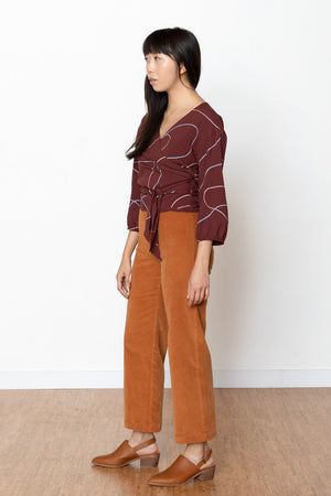 Stones Winona Wrap Blouse - Wine