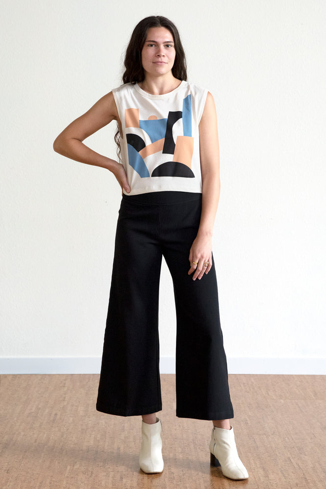 Tencel Wide Leg Pants #2 - Black