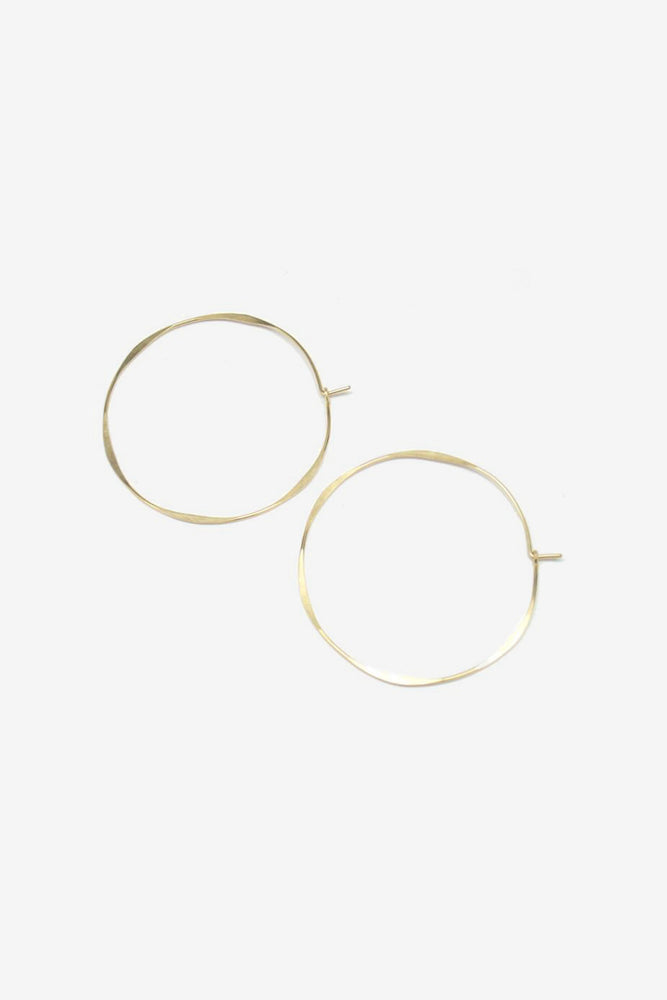 Thin Round Hoop - 14k yellow gold fill