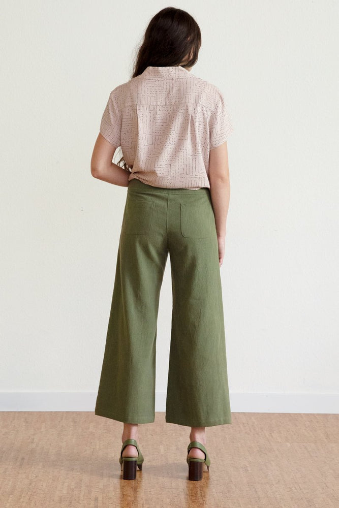 Tencel Wide Leg Pants #2 - Avocado