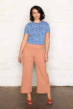 Tencel Wide Leg Pants - Almond
