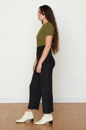 Vanessa Terry Cloth Jogger - Black