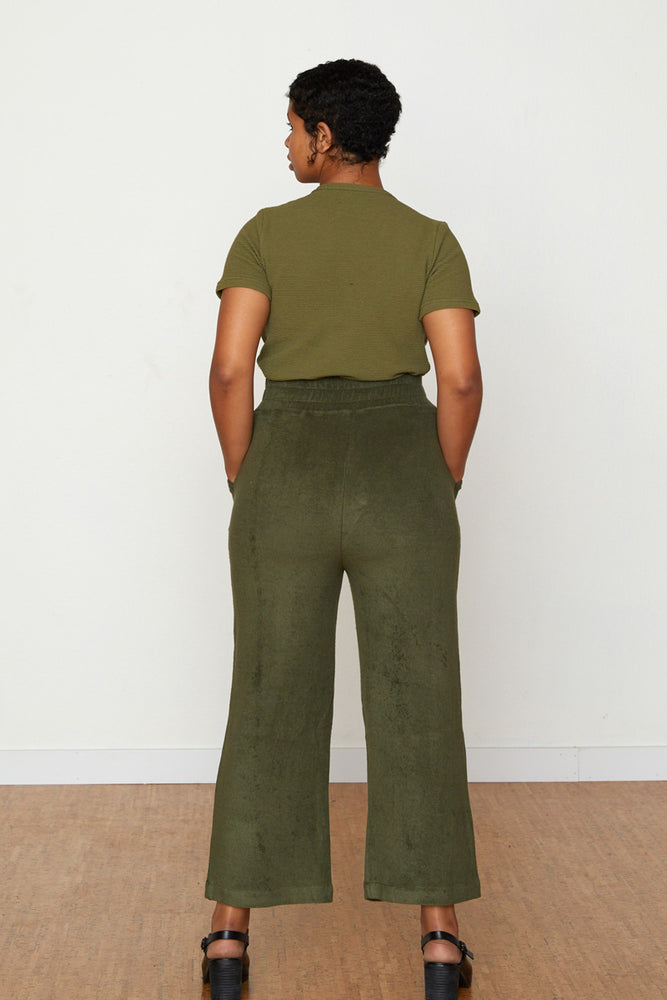 Vanessa Terry Cloth Jogger - Avocado