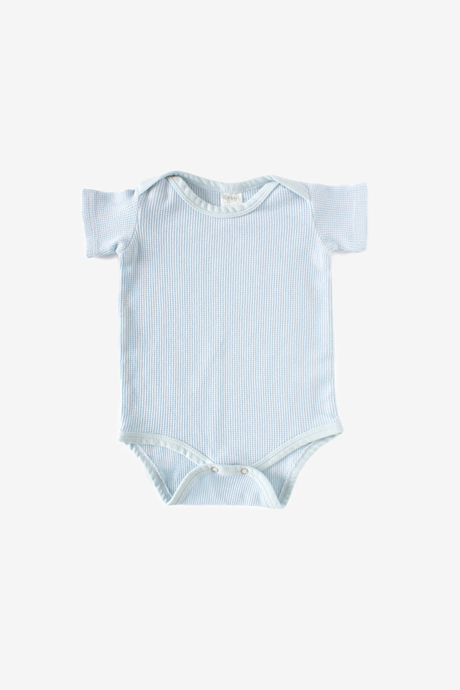 Thermal Short Sleeve Onesie - Sea Mist