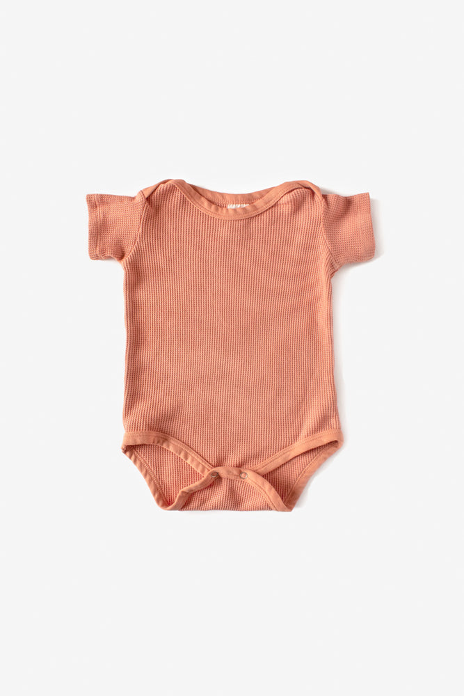 Thermal Short Sleeve Onesie - Sunset