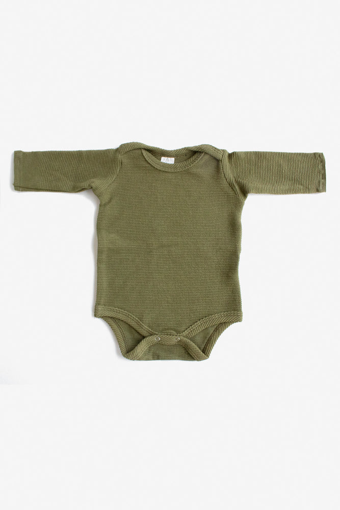 Thermal Long Sleeve Onesie - Avocado