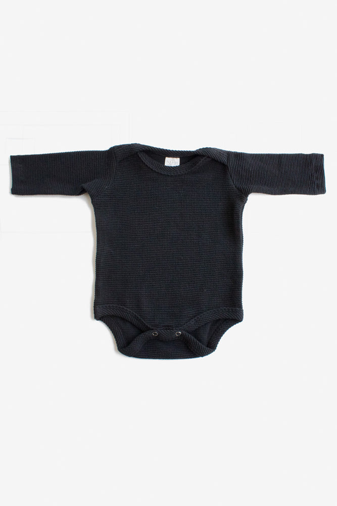 Thermal Long Sleeve Onesie - Black