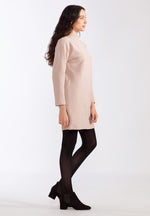 Waffle Knit Organic Dress - Dusty Rose