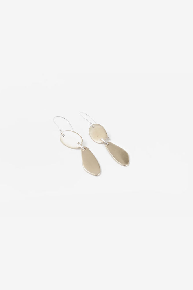 Verde Earrings - Brass