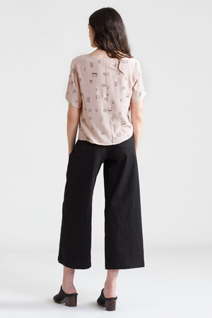 Windows Cropped Blouse - Dusty Rose
