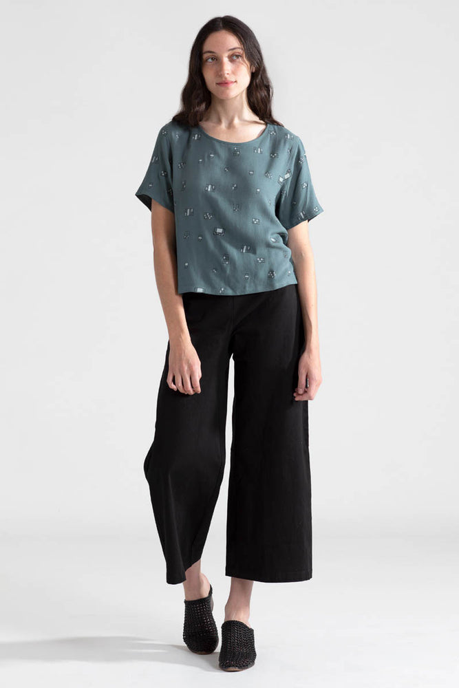 Windows Cropped Blouse - Forest