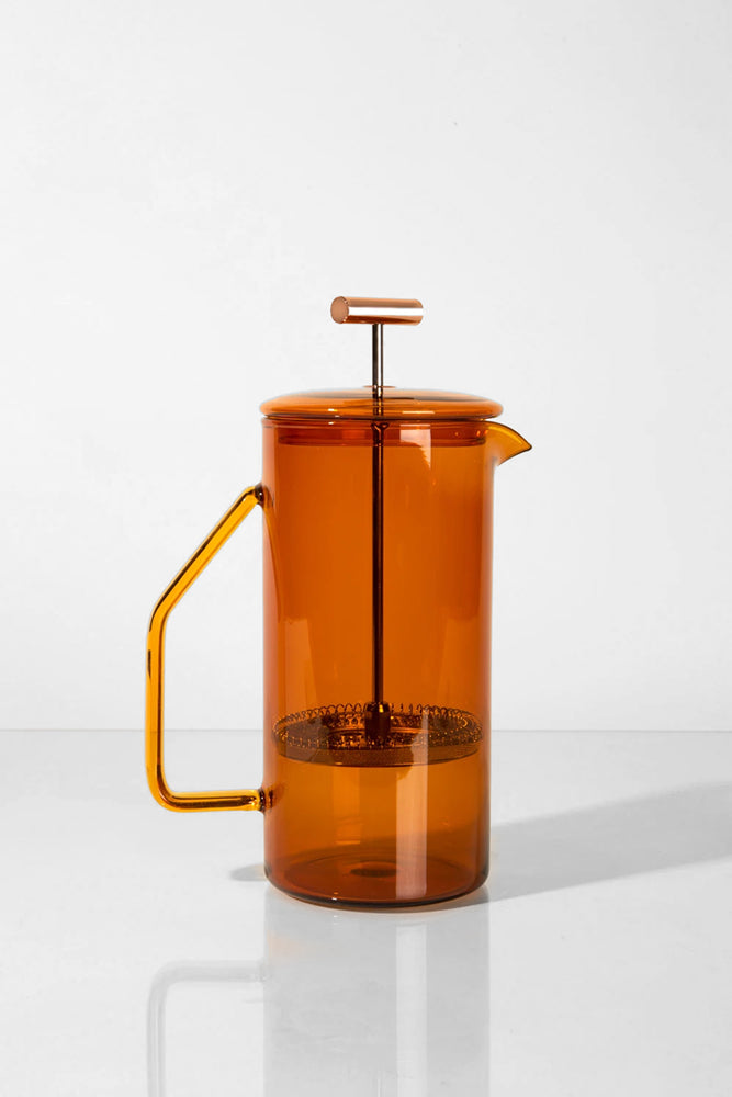 Glass French Press - Amber