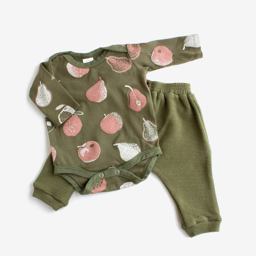 Thermal Harem Pants - Avocado