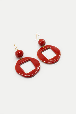 Cuba Earrings - Red