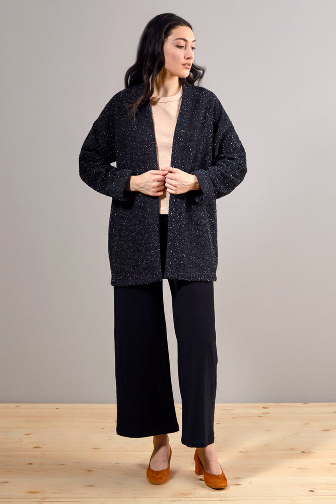Pebble Knit Cardigan #2 - Black